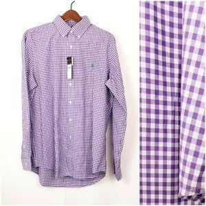 Ralph Lauren Dress Shirt Purple/White